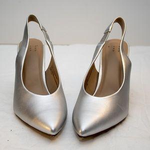 Women's Gemma silver pointed Toe Heel Pumps -